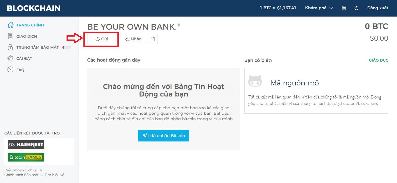 Gửi bitcoin từ blockchain.info sang Eobot