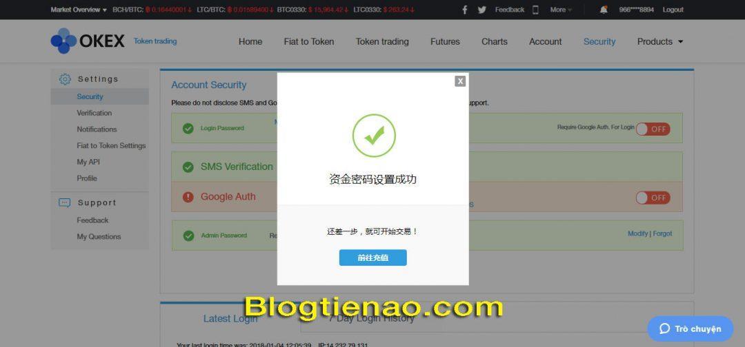 Thiết lập bảo mật Admin password. Ảnh 3