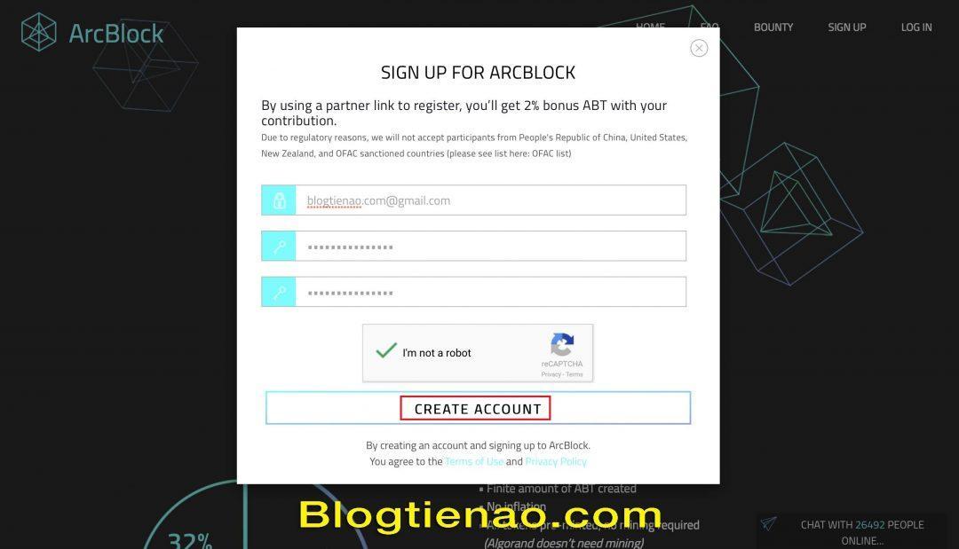 Hướng dẫn đăng ký tài khoản ArcBlock. Ảnh 2