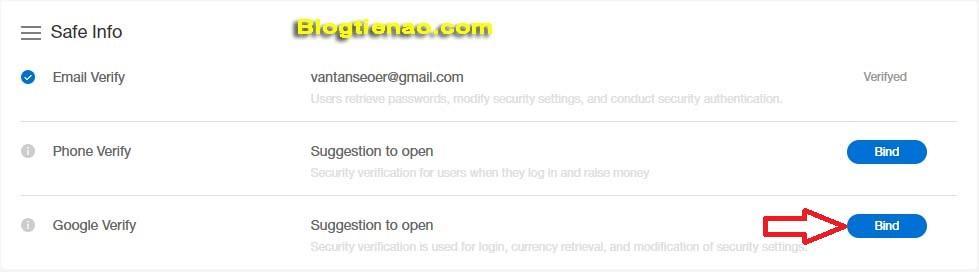 Bảo mật tài khoản IDAX. Ảnh 2