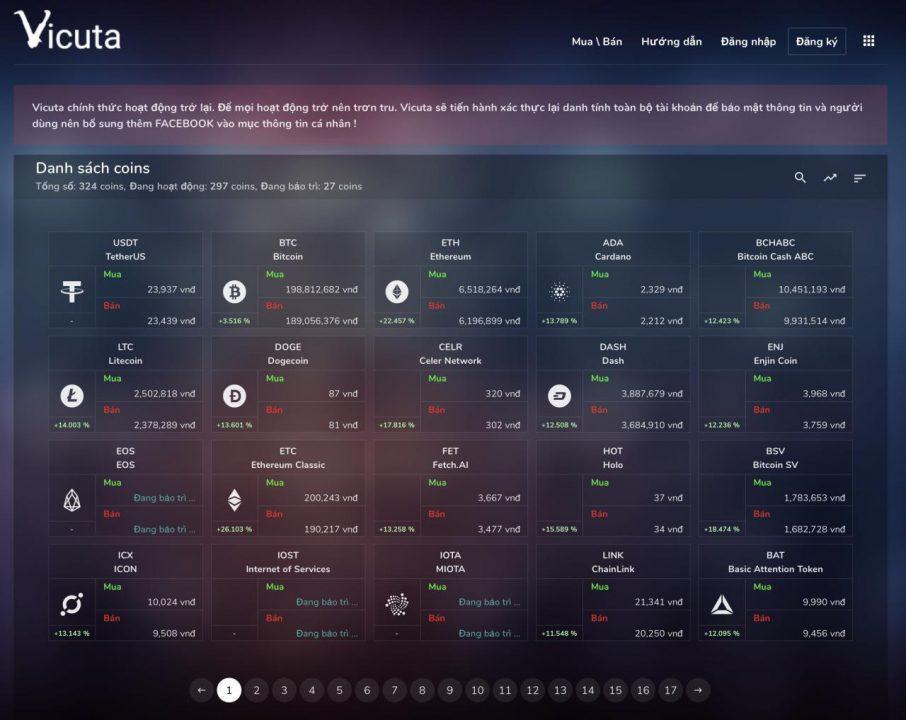 Vicuta - Trang Chủ Mua Bán Bitcoin