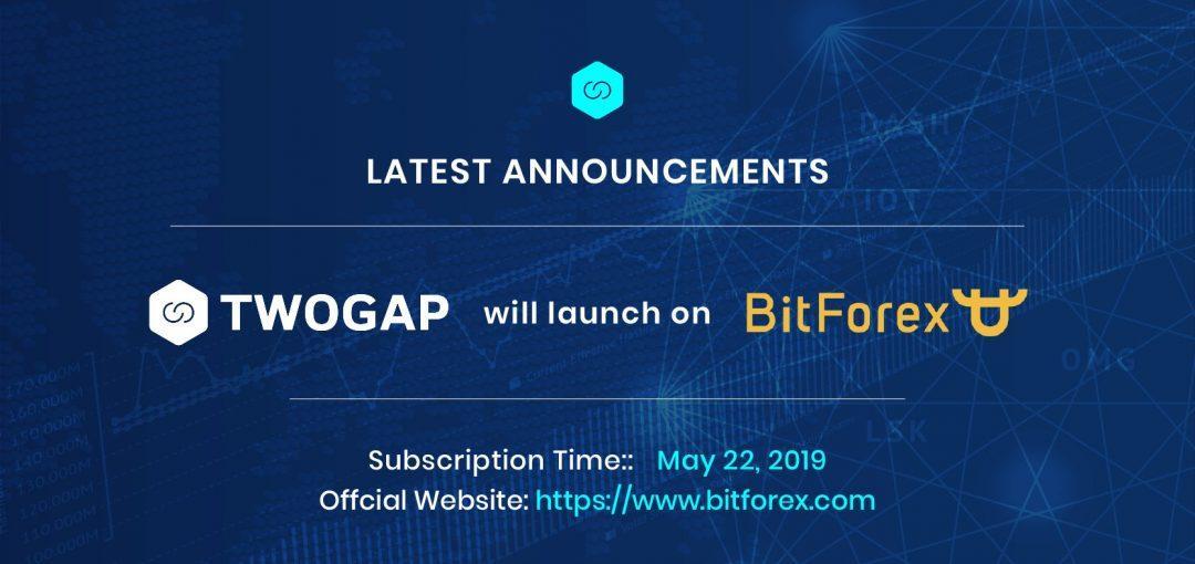 Twogap -  IEO sắp tới trên sàn Bitforex