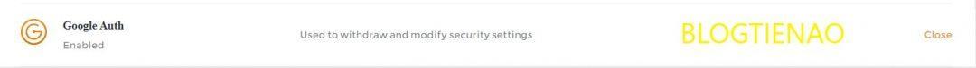 Kích hoạt thành công Google Authenticator
