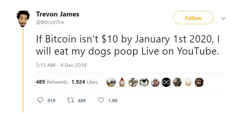 youtuber tiền điện tử tuyên bố ăn phân chó