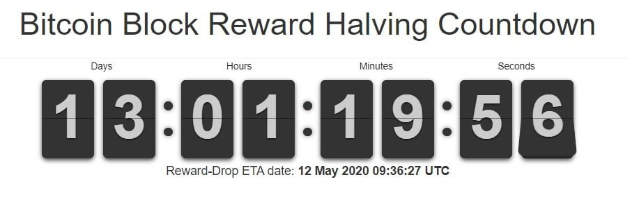 bitcoin halving đếm ngược
