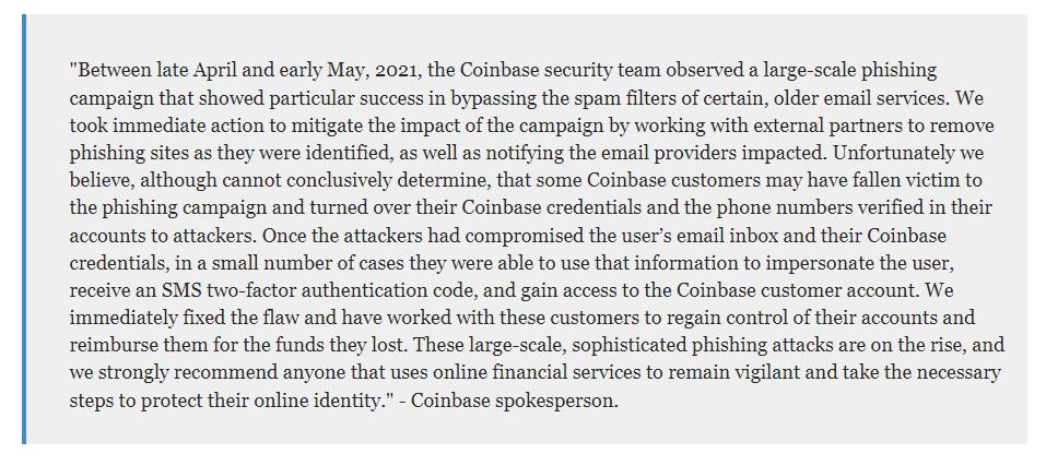 coinbase bị tấn công